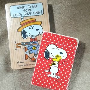 Snoopy Peanuts Vintage Playing Card Lot